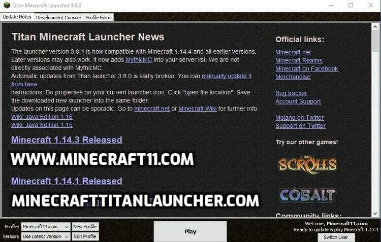 Minecraft titan launcher